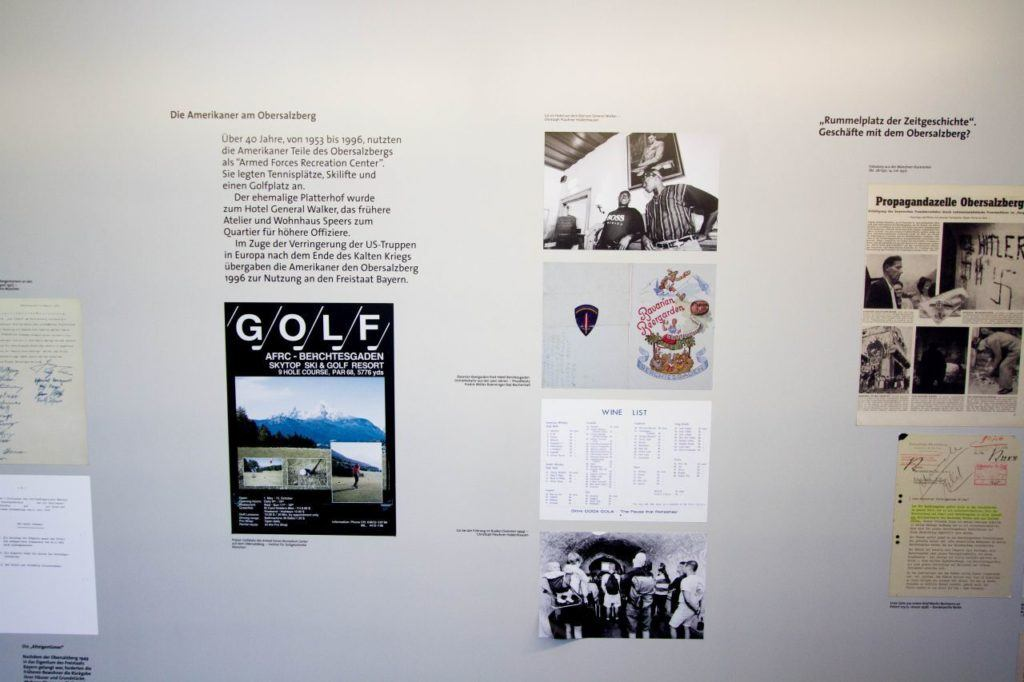 This is a board talking about the US military occupation of Berchtesgaden after the war.