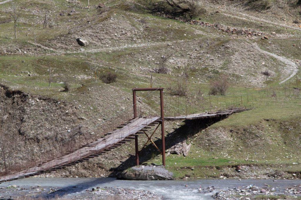 Old bridge still in use near the Georgian Military road.