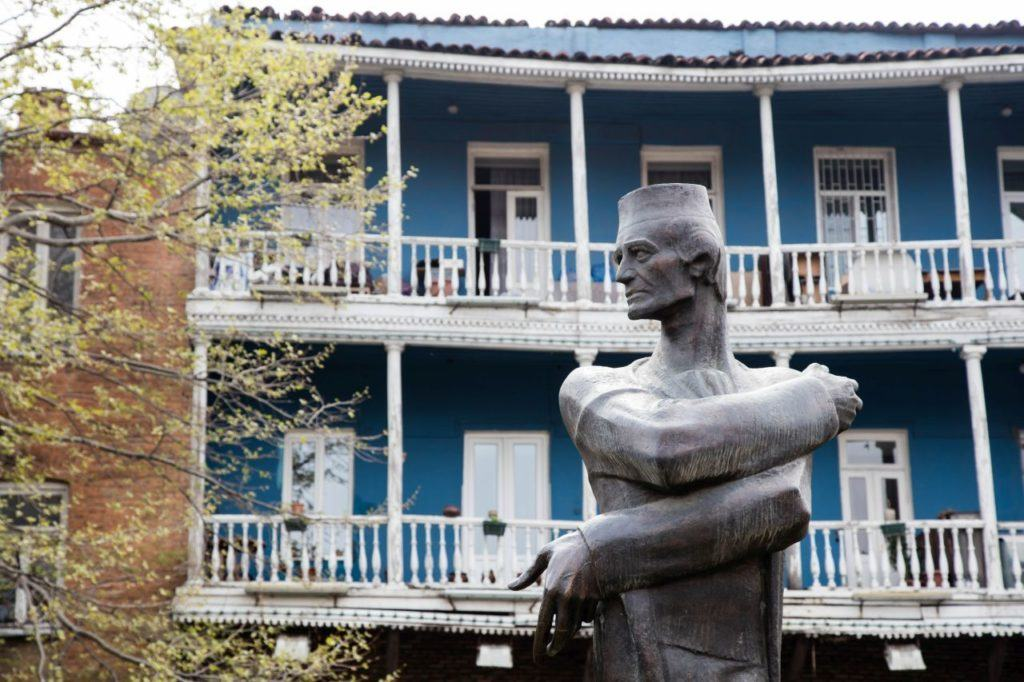 Tbilisi sculptures like this one can be found throughout the old town.