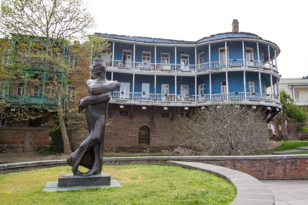 Georgian National Ballet statue.