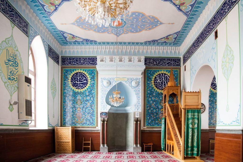 Interior view of Jumah Mosque in Tbilisi, Georgia.