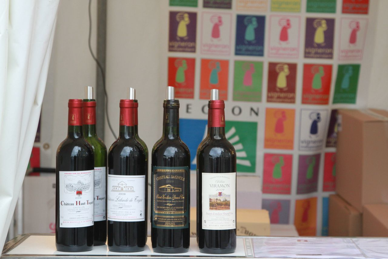 Various wines for sale.