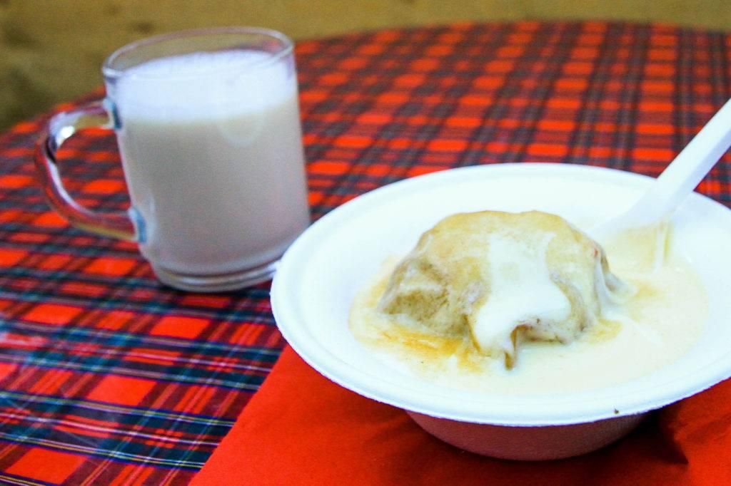 Germknödel, German dumpling.