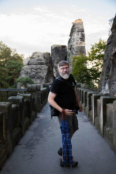 Jim on Bastei Bridge.