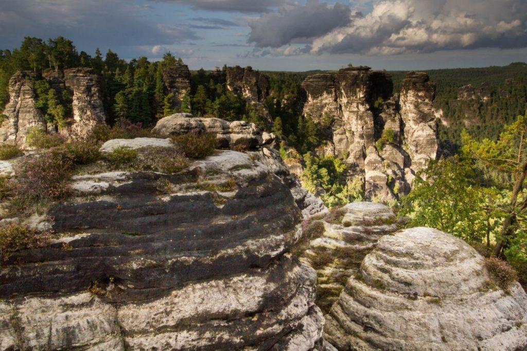 Sandstone pillar landscape in eastern Germany.