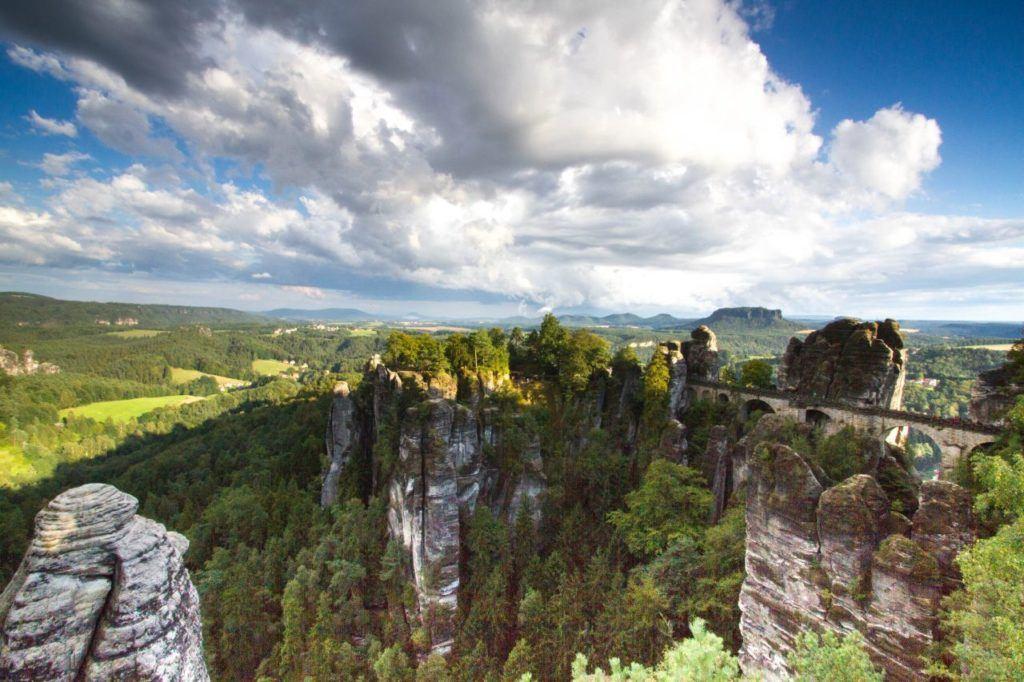 A high vantage point overlooking the Sächsischen Schweiz.