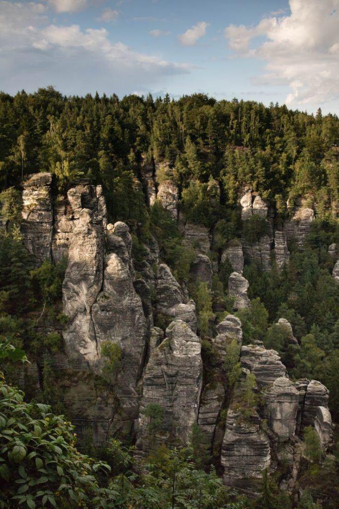 Sandstone pillars in Germany.