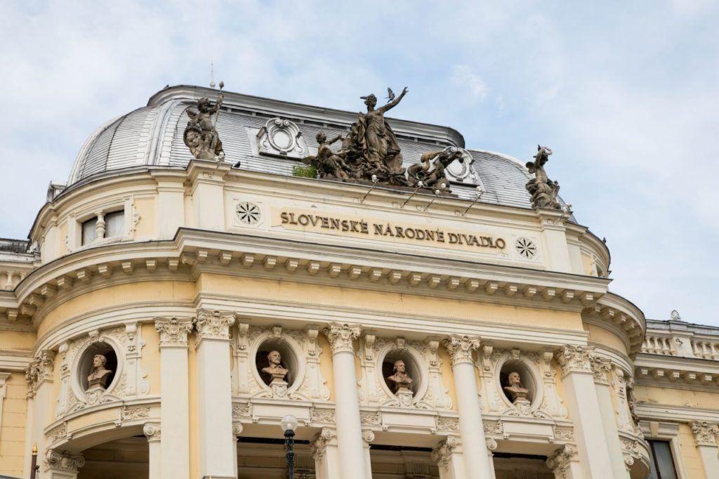 Bratislava National Opera House exterior view.