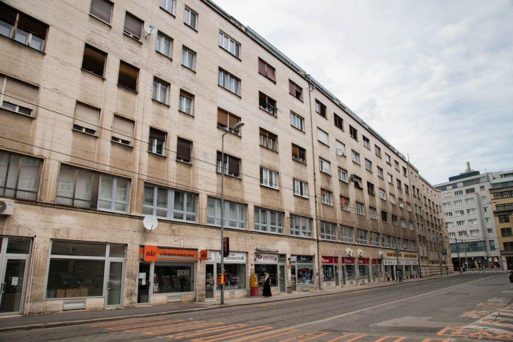 Soviet era buildings in Slovakia.