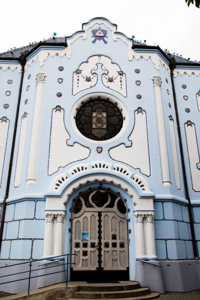 The blue church, one of our Bratislava highlights.