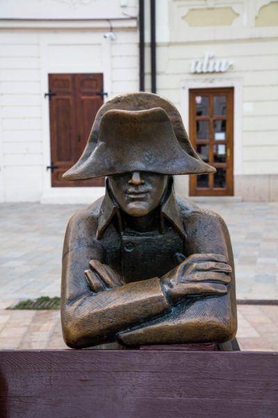 Bronze statue of Napoleon found int the city of Bratislava.