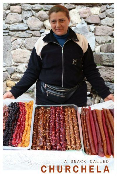 A Snack Called Churchkhela in Armenia.