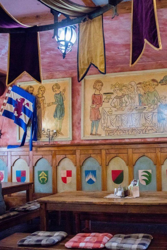Medieval decorations in the Kutna Hora restaurant - U Kata.