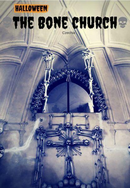 Scariest Halloween spot in Czechia-Sedlec Bone Church in Kutna Hora.