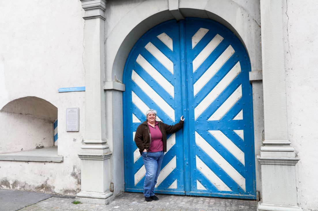 Blue and White Door Lucerne