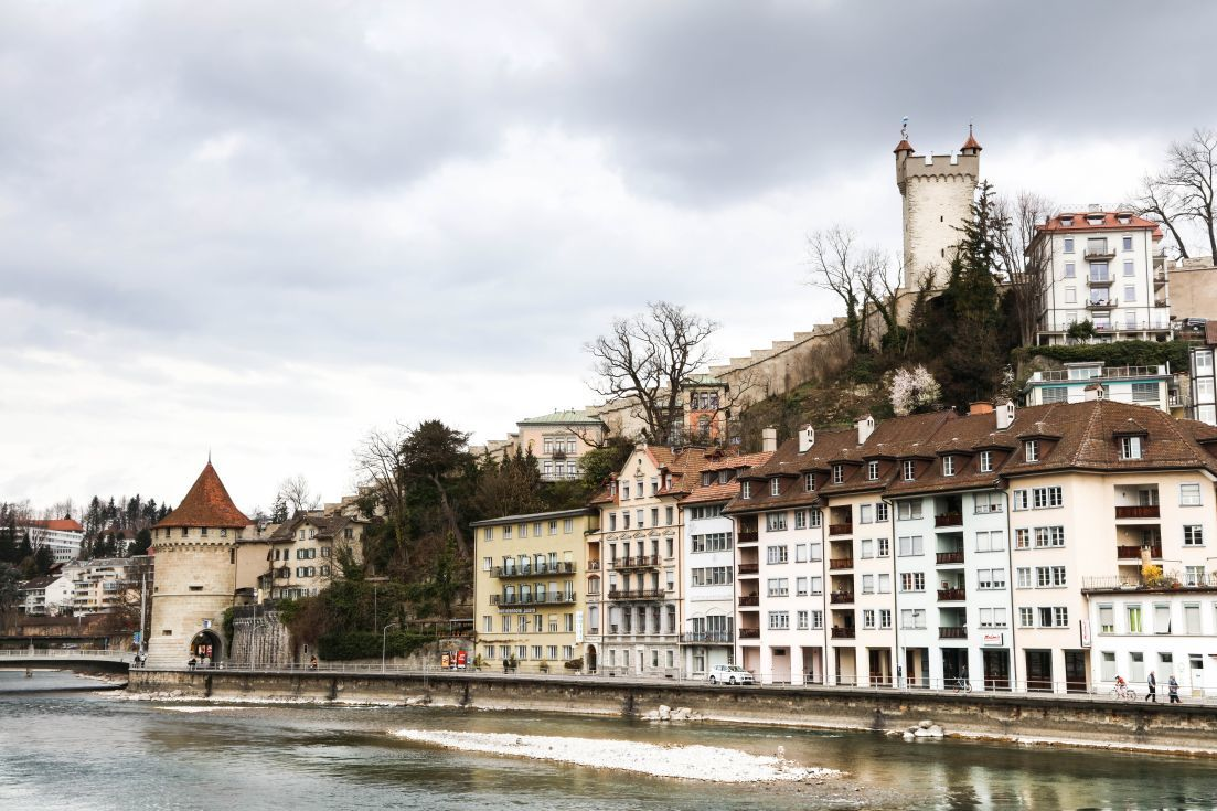 River and city walls of Lucerne.