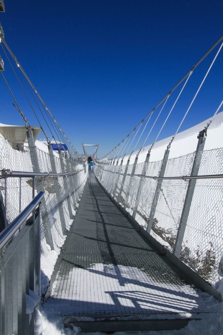 The Titlis cliff walk is only one of the activities you can do at the top of the mountain. Click here to find out more about Engelberg-Titlis, Switzerland.