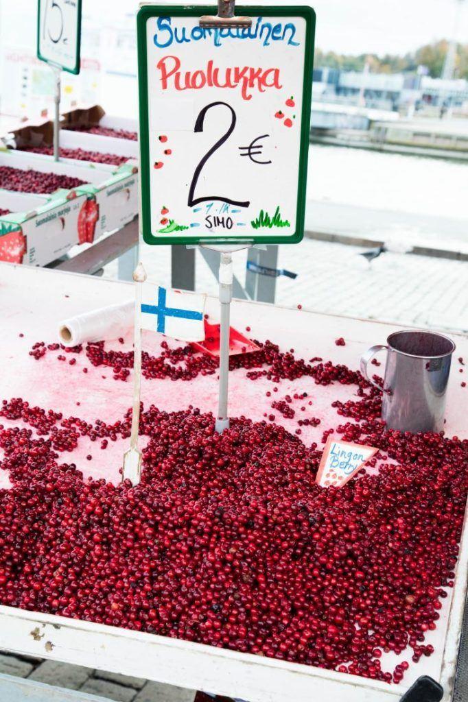 Lingon berries in Helsinki.