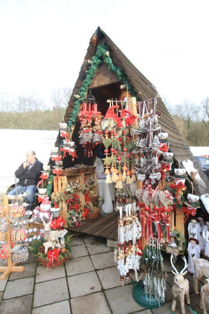 Local artisan made gifts for sale at Bavarian Christmas market.