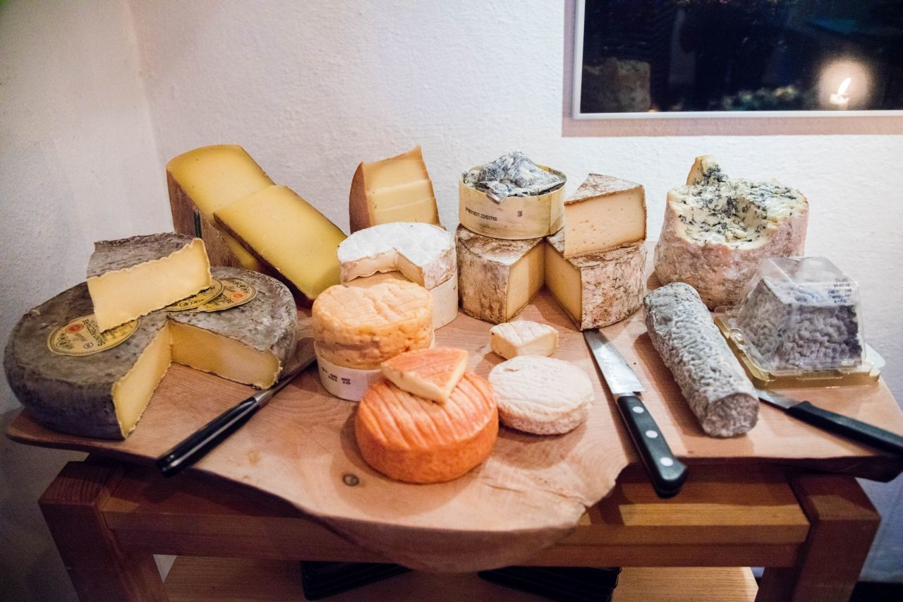 A lot of food in Sweden consists of decadent cheese and salami boards.