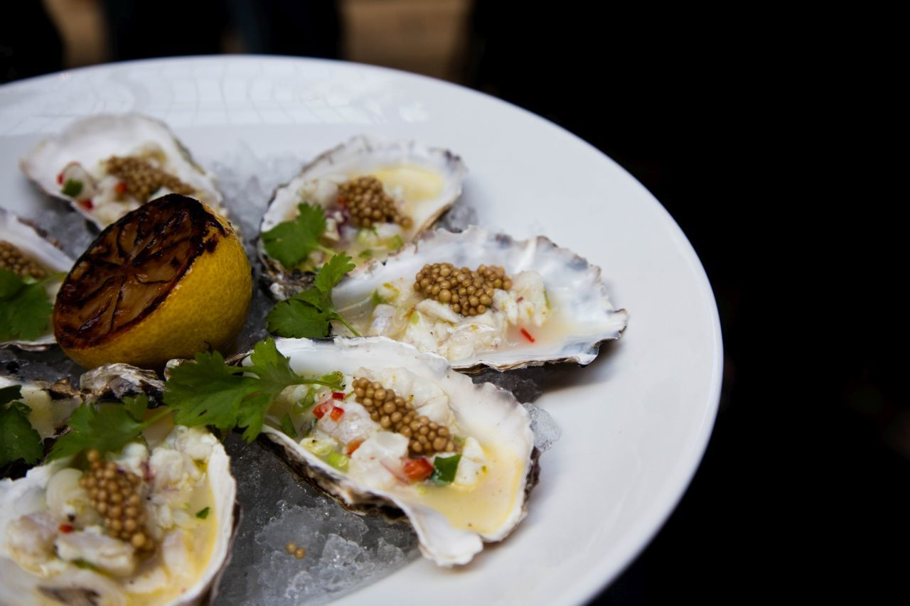 Oyster ceviche in Sweden.