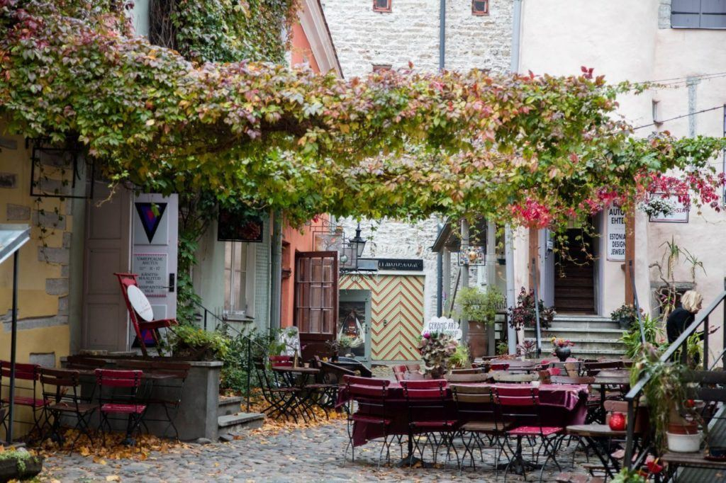 Master's Courtyard - a beautiful place to buy some handmade crafts or just sit and have a coffee. It's easily one of the fun things to do in Tallinn!