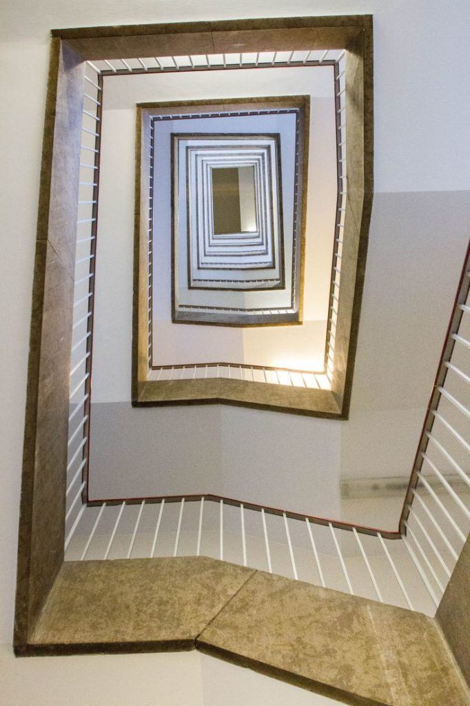 One of the stairwells, so many flights to climb!