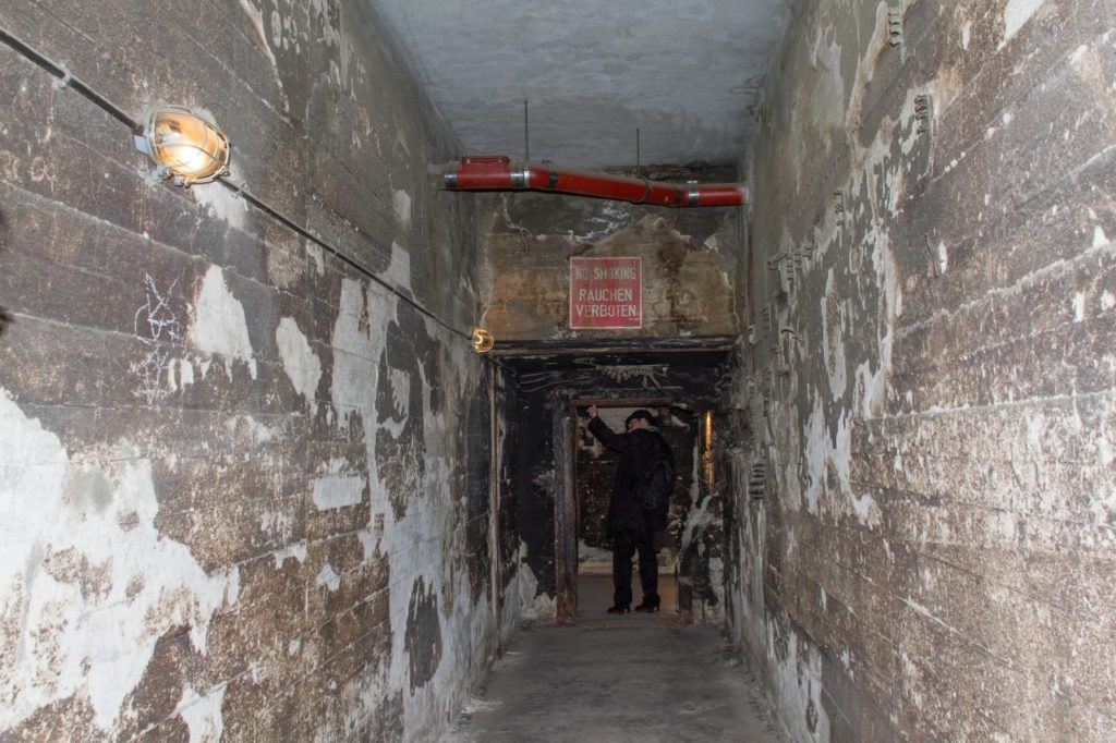 A passageway into the hidden nazi bunkers of the Tempelhof airport tunnels.