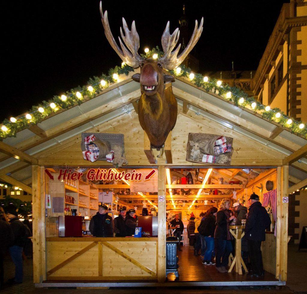 Gluhwein stand at a Bavarian Christmas Market.
