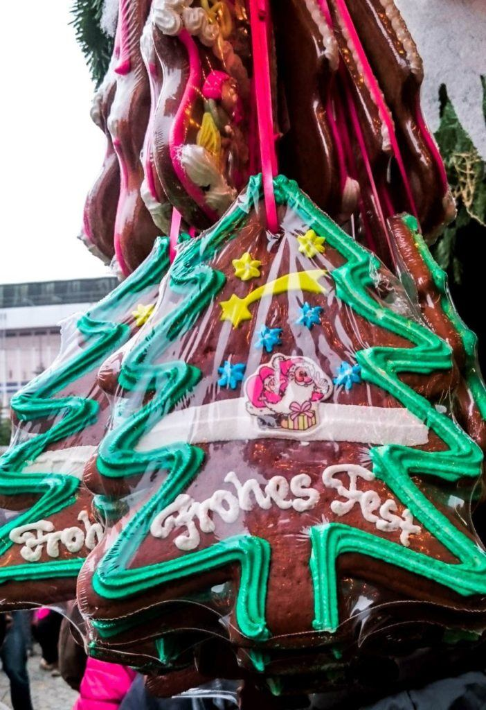 Find a huge heart or Christmas tree-shaped gingerbread for your love at a Bavarian Christmas market.