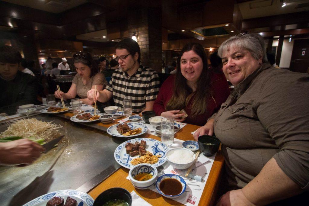 Christmas dinner out at a Kobe Beef Tepanyaki restaurant inKobe, Japan.
