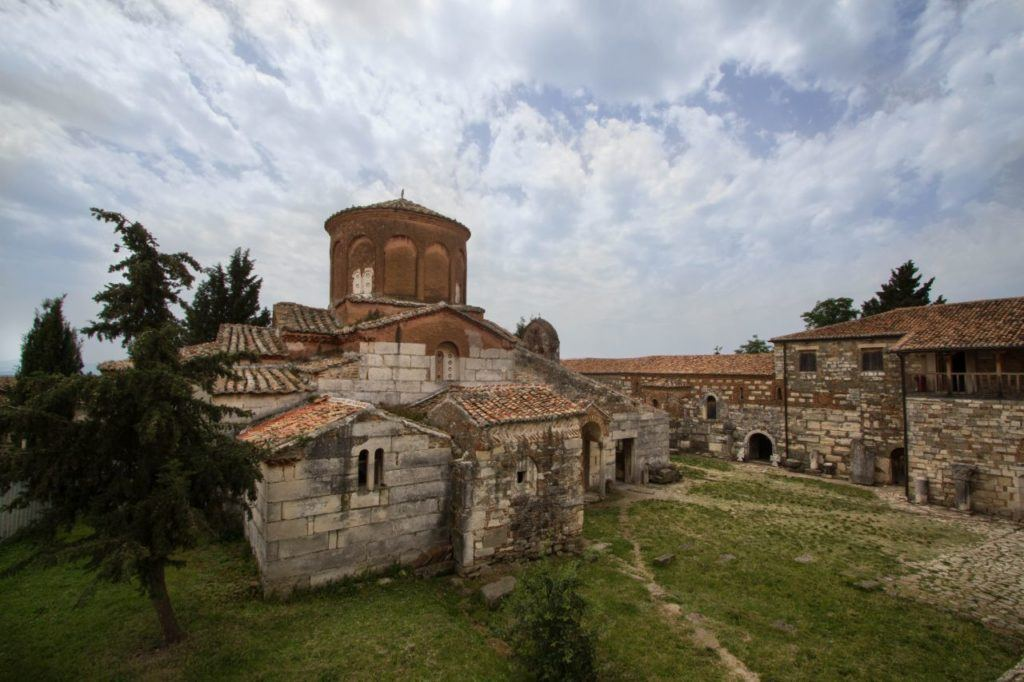 The monastery of St. Mary at Apollonia Archaeological Park has been converted into a museum housing the finds uncovered in the excavations.