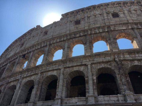 The famous coliseum of Rome.