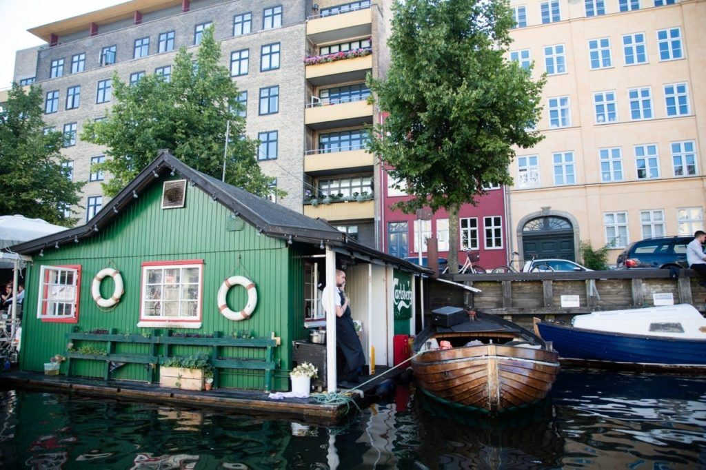 Small pub on the river, a cool thing to do in Copenhagen.
