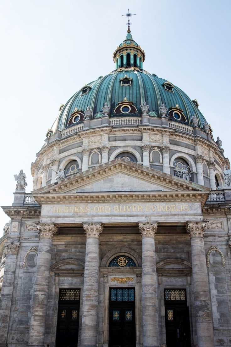 2 Days in Copenhagen give you plenty of time to check out Fredrick's Church.
