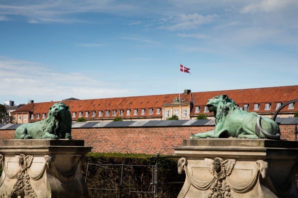 Lion's Gate at Rosenborg Palace - Copenhagen.