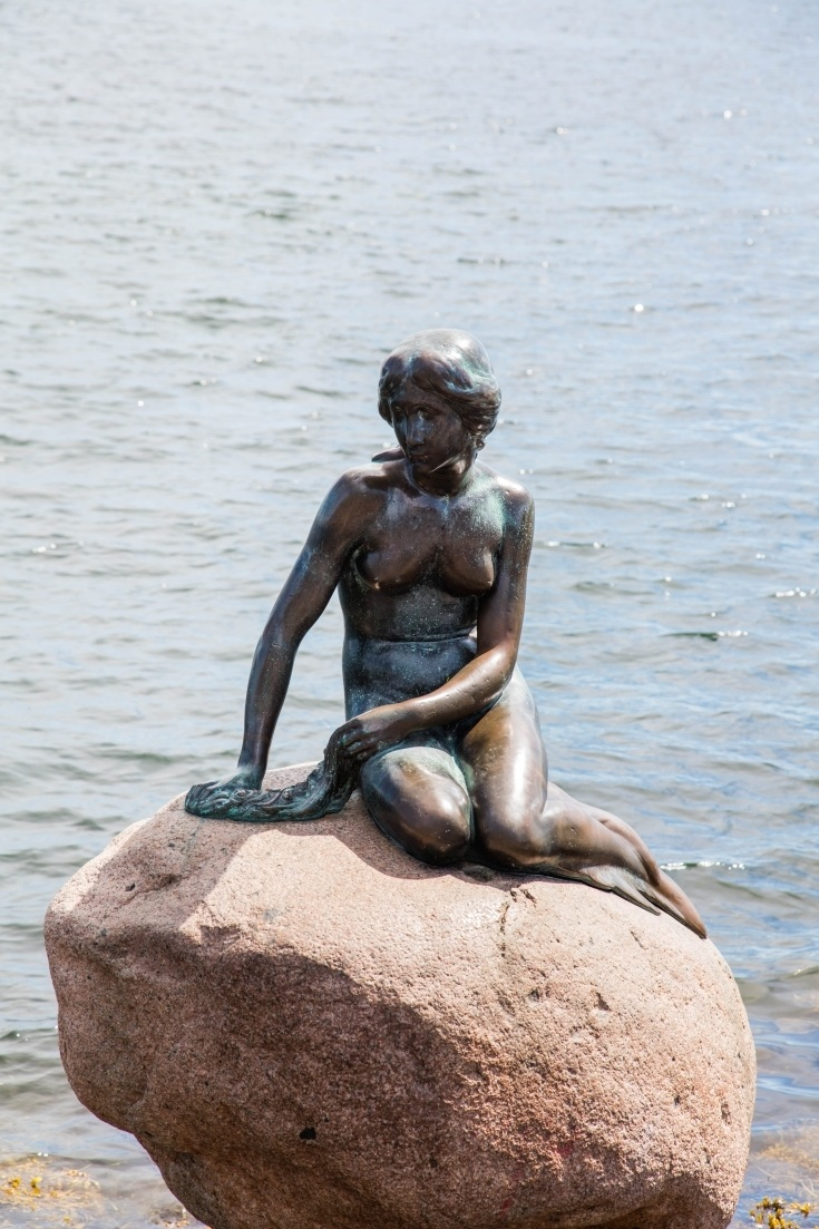The Little Mermaid statue is a can't miss in Copenhagen, and it's one of the cool things to do in Copenhagen since you have to walk or ride your bike to get out there and see it.