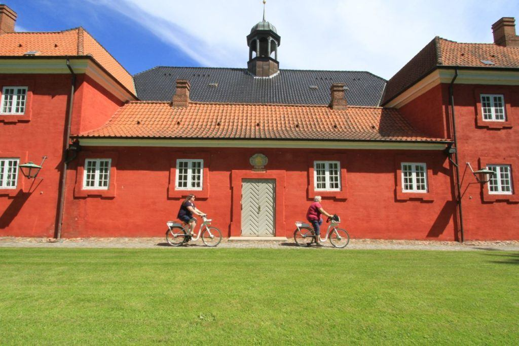 Riding ebikes around the city and especially the Kastellet is one of the more unusual things to do in Copenhagen.