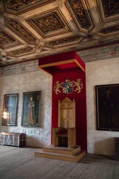 The throne room at Kalmar castle.