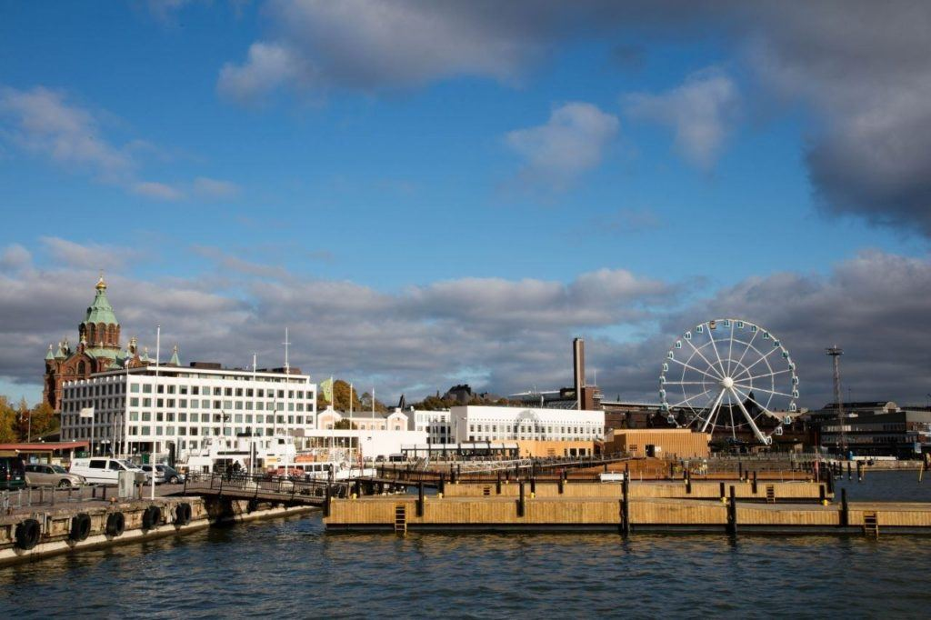 Helsinki waterfront is a great place to catch a ferry or go for a swim.