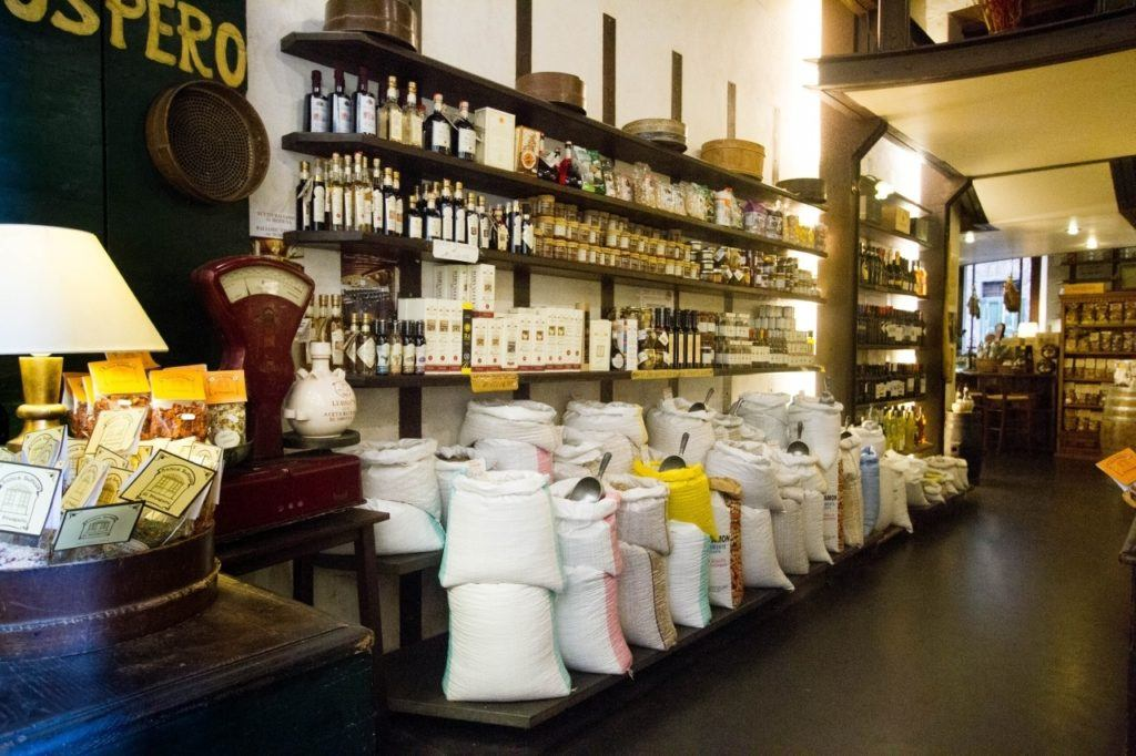 Local shop in the market area of Lucca.