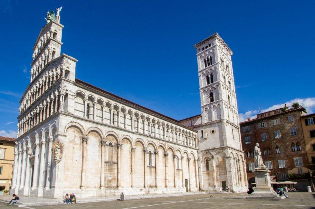Exterior view of San Michele in Foro church.