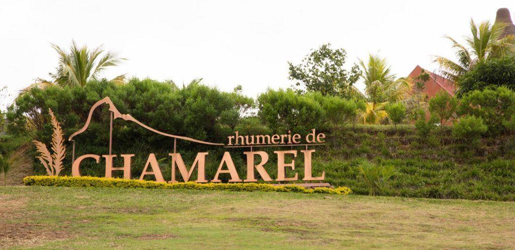 Sign of Rhumerie de Chamarel - Mauritian rum.