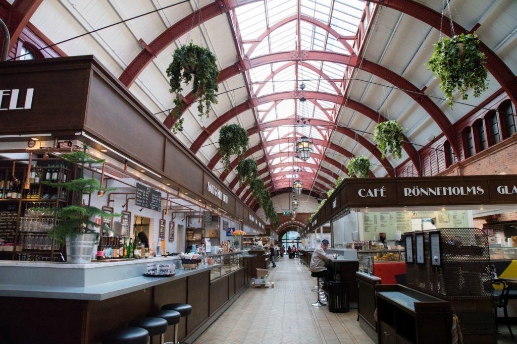 Malmo market dining stalls.