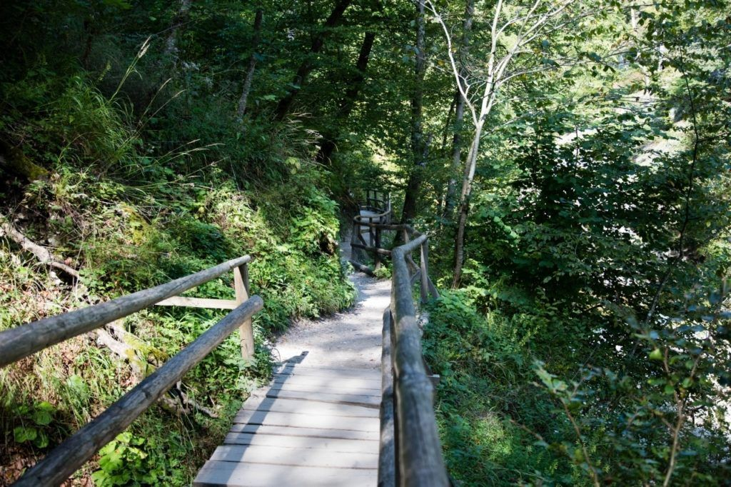 The pathway at Vintgar Gorge is easily accessible, but there are some steps.