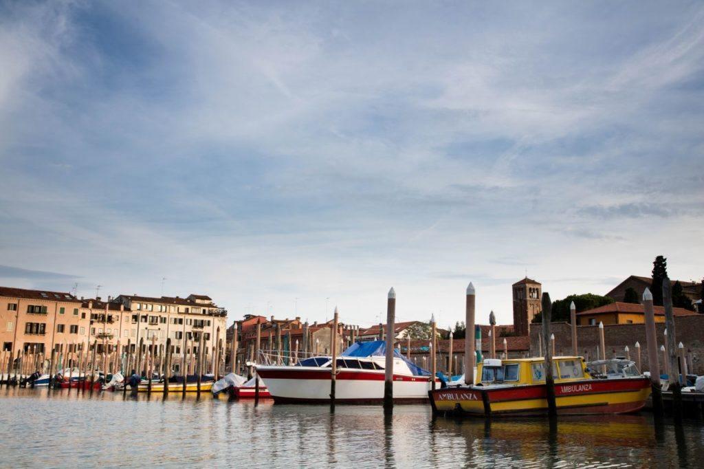 Venice boat dock.