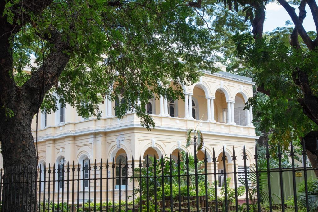 French Colonial Building where the Natural History Museum of Mauritius is housed.