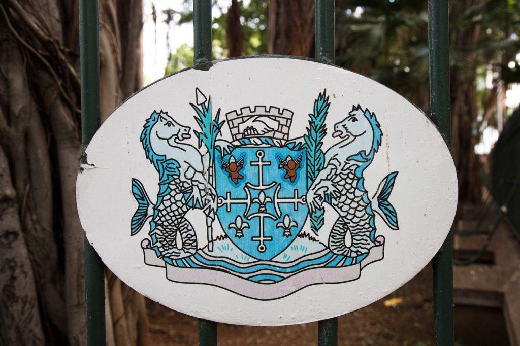 A seal depicting two seahorses and a shield, Jardin de la Companie.