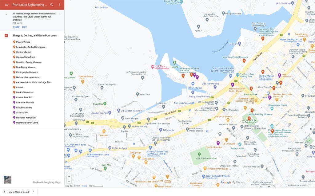 Port Louis Tourist Map.