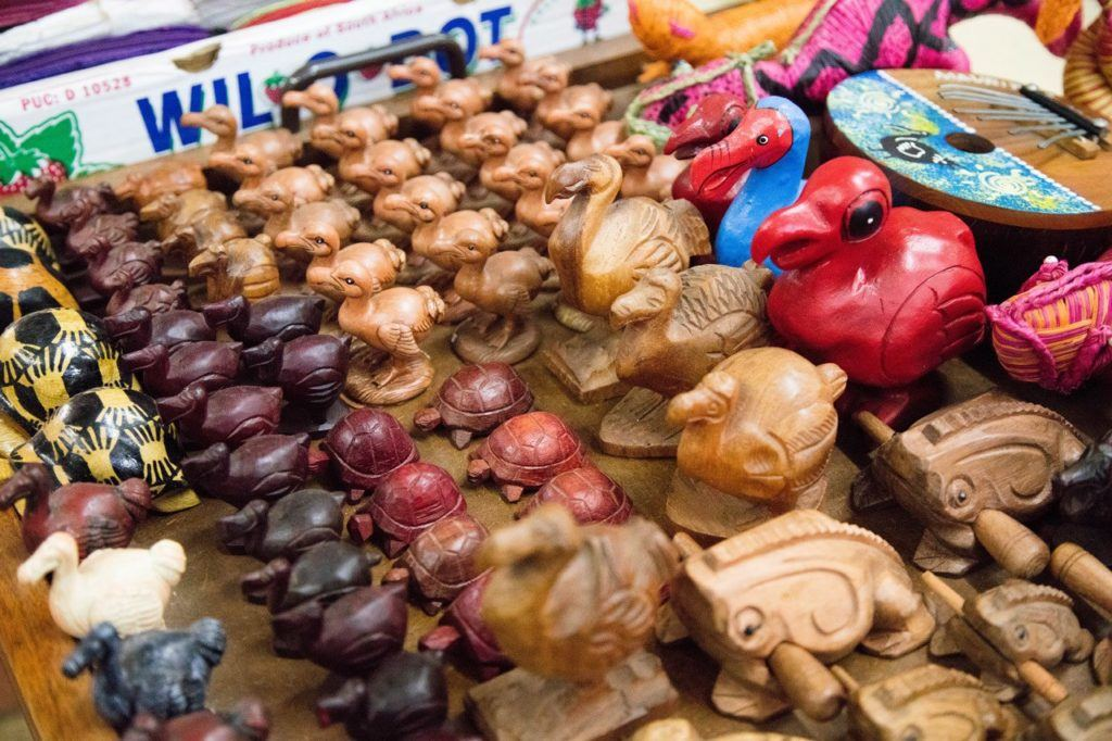 Mauritian Souvenirs, mostly dodo birds, sold in the Port Louis Central Market.